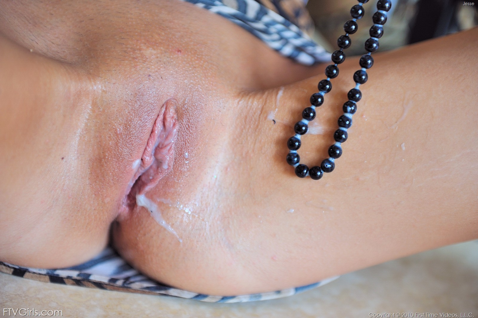 Cum and pearls